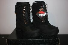 Totes Sleet Black Lace-up Winter Waterproof Boots size 9 medium NIB