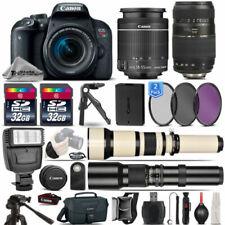 Canon EOS Rebel T7i SLR Camera 800D + 18-55mm + 70-300mm Lens - 64GB Kit Bundle
