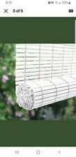 Roll-up Shade Light Filtering Right Pull Split Cord White PVC 72 X 48 Inches