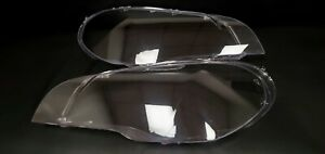 headlight bmw e70 cover left right with butyl cord very excellent polycarbonate