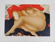 Lithografie Alain Bonnefoit - Suite Nus: Oreiller