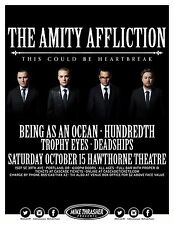"""AMITY AFFLICTION """"THIS COULD BE HEARTBREAK TOUR"""" 2016 PORTLAND CONCERT POSTER"""