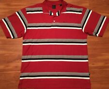 Kani Gold Mens Short Sleeve 1/4 Button Polo Style Stripe xl Shirt