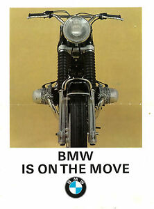 BMW Brochure R69 R69S R60 R50 & US 1960 1961 1962 1963 1964 to 1969 REPRO