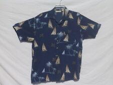 Men's Nautical M Short Sleeve Shirt - 100% Rayon