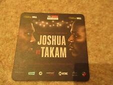 Joshua v Takam Saturday 28 Oct  2017 World Heavyweight Championship Place Mat