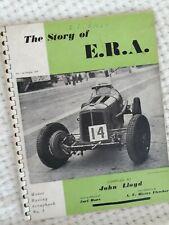 The STORY of E.R.A.ERA by John Lloyd ~ Motor Racing Scrapbook No 3 ~ 1st 1949
