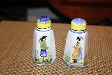 Henriot Quimper France Salt & Pepper Shakers