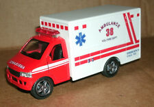 1/45 Scale Ambulance Diecast Model - Fire Dept Paramedic Rescue Van Friction Toy