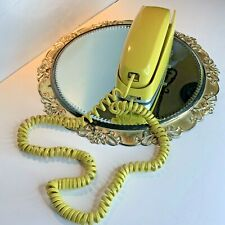 Vintage Southwestern Bell Telephone Wall Mount Yellow 6 ft Cord #N1