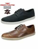 Mens Red Tape Girvan Brown Navy Lace Up Leather Brogue Casual Designer Shoes UK
