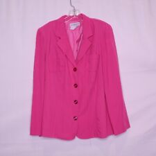 SAG HARBOR SOLID PINK LINED LONG SLEEVE BUTTON FRONT BLAZER SZ 16 #M890