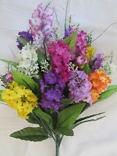 Sommerflieder Strauß incl. Stiel 52cm Künstliche Kunst Blumen Pflanzen Floristik