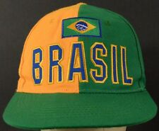 Brazil Flag Green Yellow Baseball Hat Cap Adjustable Strap