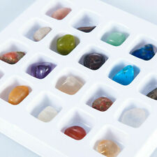 Set of 20 Healing Crystal Natural Gemstone Reiki Chakra Collection Stone Kit #@