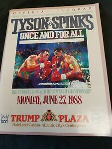 Mike Tyson vs Spinks Official Program Once and For All June 27 1988 Trump Plaza