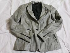 Rag and Bone Womens Blazer Jacket Gray 1 Button size 2 Wool blend