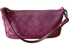 Coach Pink Signature C Leather Demi Bag 6094