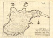 """""""saint-malo"""". saint-malo ville plan. ille-et-vilaine. de fer 1705 old map"""