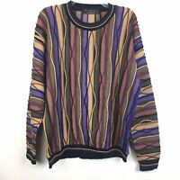 Protege Collection Sz L Men Sweater Bill Cosby COOGI style Multi-color Crewneck