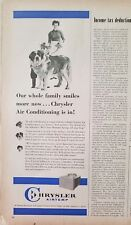1959 Chrysler airtemp air conditioning unit boy Saint Bernard dog ad