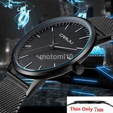 Useful Ultra Thin Mens Stainless Steel Strap Sports Analog Quartz Wrist Watch