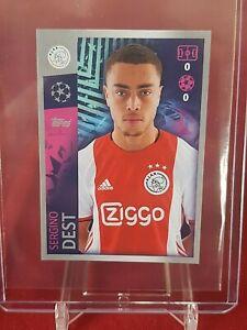 Sergino Dest Ajax Barcelona Champions League 2019/20 Topps Rookie Sticker