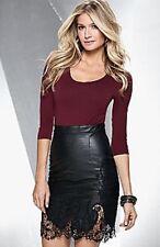 VENUS Faux Leather Detailed Dress Black-Multi Wine Size 10 Medium