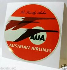 Austrian Airlines Vintage Style Travel Decal / Vinyl Sticker, Luggage Label