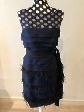 BNWT Carolina Herrera women casual silk blue dress size UK12