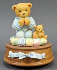 Cherished Teddies ~ Boy Praying Music Box - Jesus Loves Me (914304) *Mint*