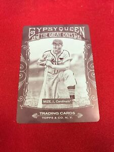 2011 Gypsy Queen JOHNNY MIZE 1/1 Magenta Printing Plate St Louis Cardinals ~MR02