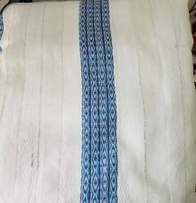 Ethiopian/Eritrean Hand Made Blue Blanket (Gabi) Made out of Natural 100% cotton