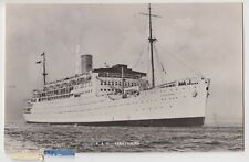 "Shipping; P&O ""Strathaird"" 3/4 View From Bow RP PPC, To J Downs, Acton, c 1950's"
