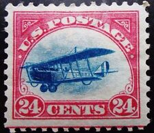 US Sc# C3 *MINT OG H* { -XF- 24c JENNY FAST PLANE VAR } W GUIDE LINE 1918 SERIES