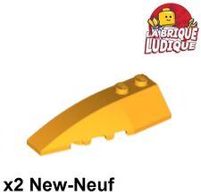 Lego - 2x Wedge 6x2 left gauche brique brick bright light orange cl. 41748 NEUF