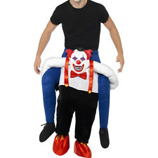 Adult Men Insidious Clown Carry Piggy Back Horror Funny Hallowen Mascot Costume