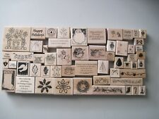 You Pick Winter and Christmas Themed Rubber Stamps Snowflake Free Shipping