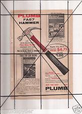 Vintage 1965 Popular Mechanics Magazine Ad A133 Plumb FA57 Hammer Irwin DAP