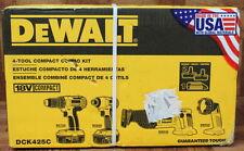 DEWALT DCK425C 18V CORDLESS COMPACT 4-TOOL COMBO KIT *NIB*
