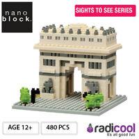 NBH075 Nanoblock Arc de Triomphe [Sights to See Series] 480pcs Age 12+
