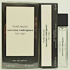 Pure Musc For Her by Narciso Rodriguez  50ml EDP Spray + 10ml Purse Spray  NEW