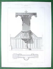 ARCHITECTURE PRINT : France Pulpit in Church of Flers