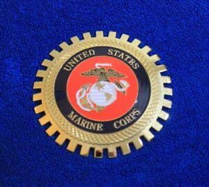 USMC Marine Corp Grille Badge Bumper License Topper Accessory Navy