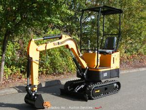 2021 Agrotk YM-10 Hydraulic Mini Excavator Rubber Tracks Aux Hyd bidadoo -New