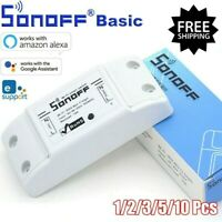 10PCS Sonoff Basic Smart Home WiFi Wireless Switch For Apple Android APP Control