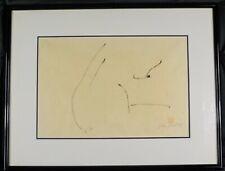 Vintage Original Artist Print Lithograph Female Nude signed Illegibly