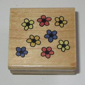 Flower Patch Penny Black Rubber Stamp Donna Klotzle Daisy Flowers Garden