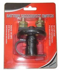 Battery Disconnect Kill Cut Off Cut-off Switch Car Boat Truck Brass Terminals
