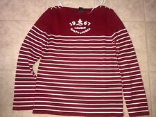 LAUREN RALPH LAUREN ~ NWOT Womens Cable Knit Red White Sweater Christmas 1967 M